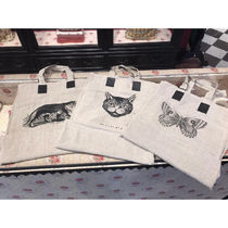 GUCCI Casual Style A4 Other Animal Patterns Totes