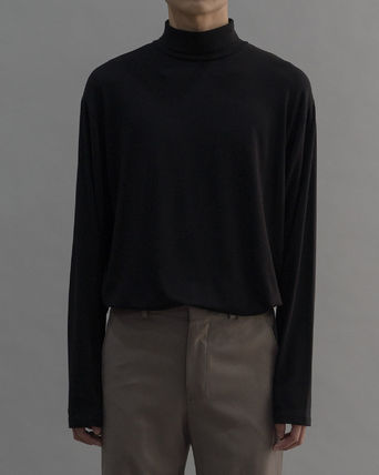 Long Sleeves Plain Cotton Tops