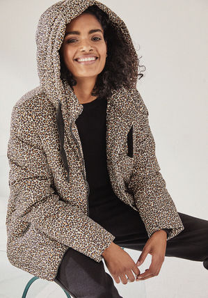 Leopard Patterns Casual Style Medium Coats