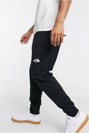 THE NORTH FACE Tapered Pants Unisex Sweat Street Style Plain Cotton Logo