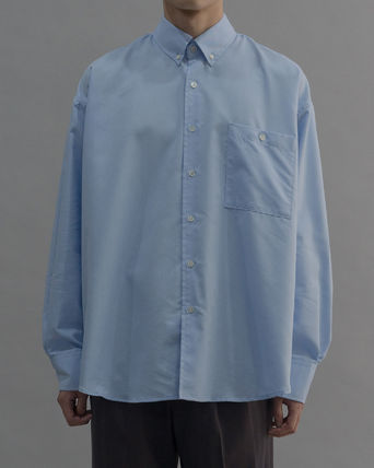 Long Sleeves Plain Cotton Oversized Shirts