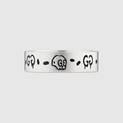 GUCCI Unisex Street Style Silver Logo Rings