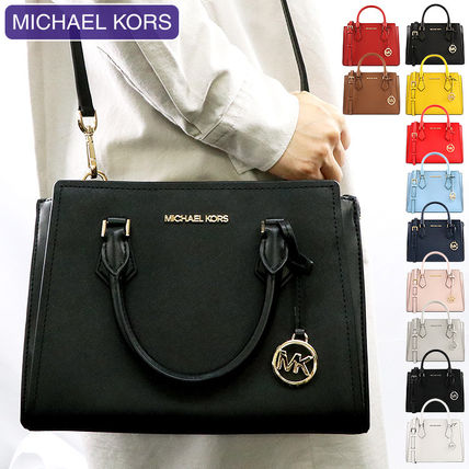 Michael Kors 2WAY Plain Leather Crossbody Handbags