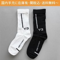 Y-3 Unisex Collaboration Cotton Logo Undershirts & Socks