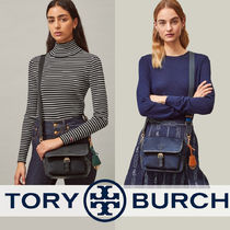 Tory Burch PERRY Casual Style Unisex Nylon Vanity Bags 2WAY Plain Party Style