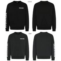 D SQUARED2 Unisex Street Style U-Neck Long Sleeves Logos on the Sleeves