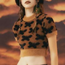 BADEE Short Leopard Patterns Casual Style Street Style