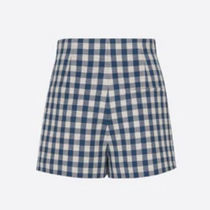 Christian Dior Short Other Plaid Patterns Casual Style Wool Shorts