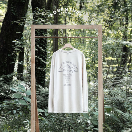 ★Fluke★Mountain Drawing Pigment T-shirt