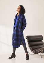 hush More Coats Other Plaid Patterns Casual Style Wool Long Coats 7