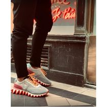 Christian Louboutin Leather Logo Sneakers