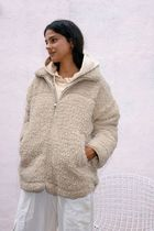 Urban Outfitters Street Style Plain Long Shearling Outerwear