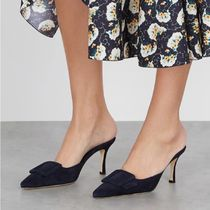 Manolo Blahnik Casual Style Plain Party Style Office Style Elegant Style