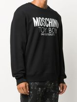 Moschino Sweatshirts Crew Neck Long Sleeves Cotton Logo Sweatshirts 4