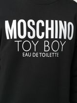 Moschino Sweatshirts Crew Neck Long Sleeves Cotton Logo Sweatshirts 6