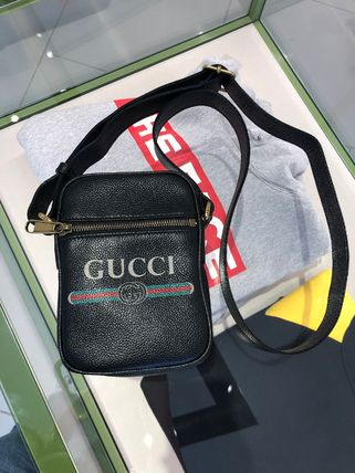 GUCCI Unisex Street Style Messenger & Shoulder Bags