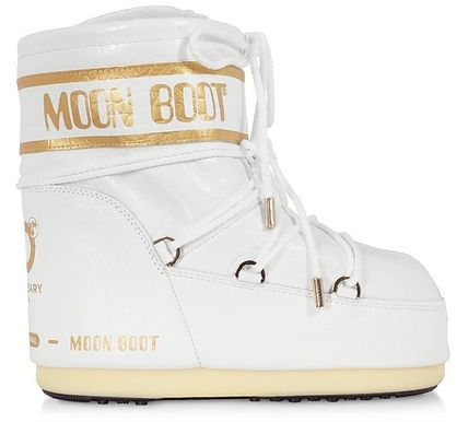 Casual Style Logo Mid Heel Boots