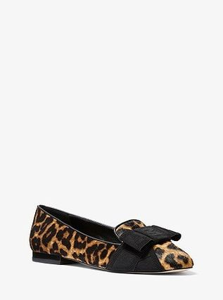 Michael Kors Leopard Patterns Pointed Toe Shoes