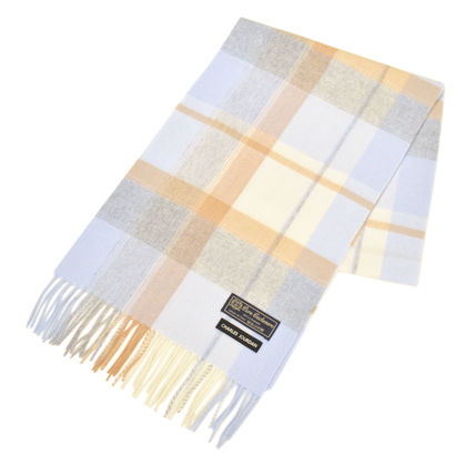 Tartan Other Plaid Patterns Unisex Cashmere Fringes Bridal