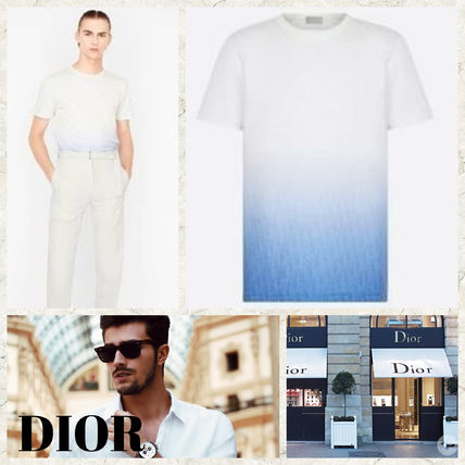 Christian Dior More T-Shirts Street Style Cotton Logo Luxury T-Shirts