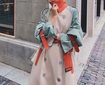 Stand Collar Coats Casual Style Plain Long Office Style