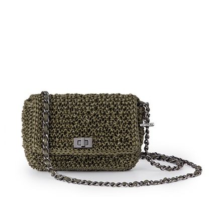 Casual Style Blended Fabrics Plain Party Style Shoulder Bags