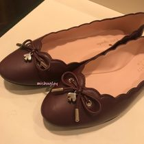 kate spade new york Plain Leather Ballet Shoes