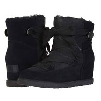 UGG Australia Lace-up Casual Style Sheepskin Suede Plain Lace-up Boots