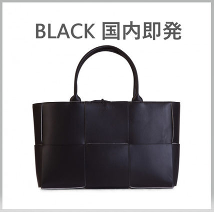 Casual Style Lambskin A4 Plain Leather Office Style