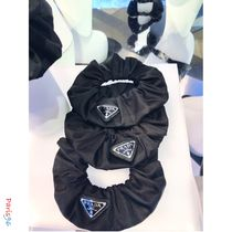 PRADA Scrunchy Casual Style Party Style Office Style Elegant Style