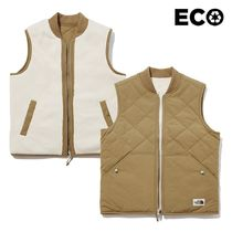 THE NORTH FACE Unisex Street Style Plain Logo Vest Jackets