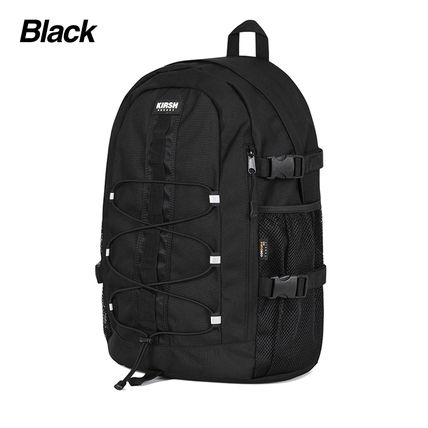 KIRSH Unisex Street Style Plain Logo Backpacks