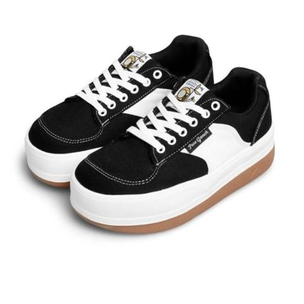 Casual Style Unisex Street Style Plain Logo Low-Top Sneakers
