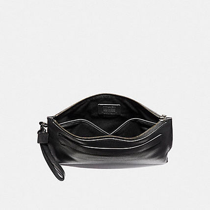 Coach Unisex Street Style Bag in Bag Plain Leather Oversized
