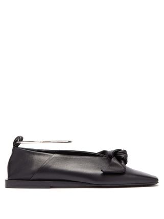 Square Toe Platform Casual Style Plain Leather Party Style