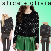 Alice+Olivia Dots Casual Style Cashmere Silk Nylon Blended Fabrics