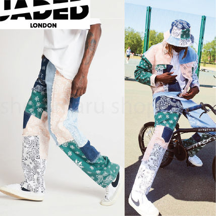 JADED LONDON More Jeans Printed Pants Paisley Denim Street Style Plain Oversized