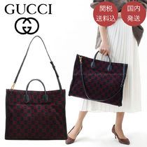 GUCCI Monogram Casual Style Unisex A4 2WAY Office Style