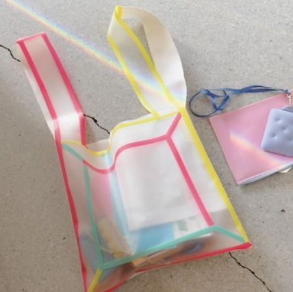 Lightree Shoppers Crystal Clear Bags Icy Color Shoppers