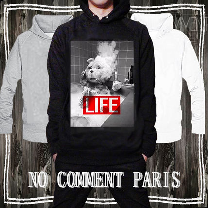 Pullovers Unisex Street Style Long Sleeves Cotton Logo