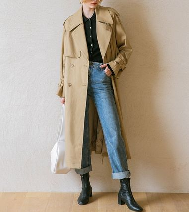 Casual Style Street Style Plain Long Office Style Oversized