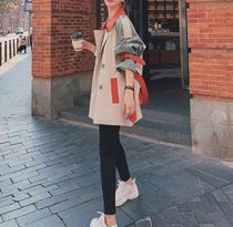 Stand Collar Coats Short Casual Style Office Style