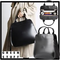 GREEN STUFF Casual Style Street Style Totes