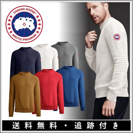 Crew Neck Pullovers Monogram Wool Street Style Long Sleeves