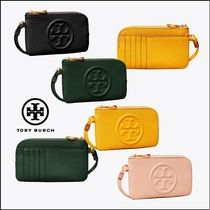 Tory Burch PERRY Plain Leather Logo Card Holders