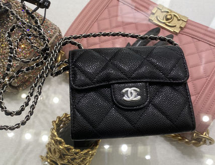 CHANEL CHAIN WALLET Leather Accessories