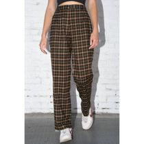 Brandy Melville Other Plaid Patterns Casual Style Cotton Long Office Style