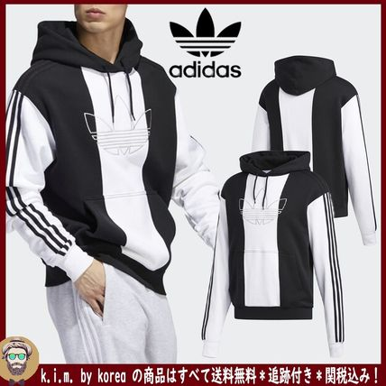 adidas Hoodies Unisex Long Sleeves Logo Hoodies