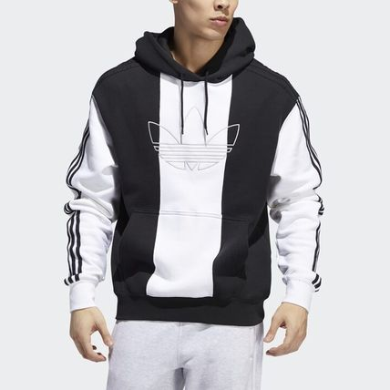 adidas Hoodies Unisex Long Sleeves Logo Hoodies 5