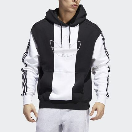 adidas Hoodies Unisex Long Sleeves Logo Hoodies 6